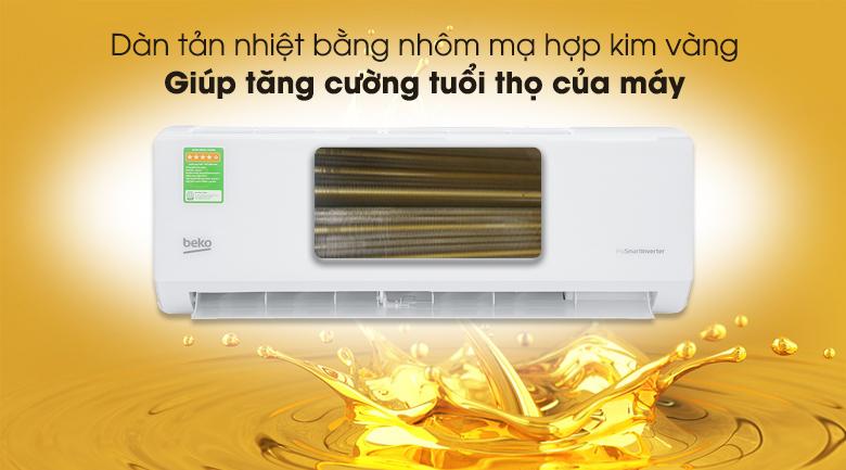 Máy lạnh Beko Inverter 1 HP RSVC09VT - Dàn tản nhiệt mạ hợp kim vàng