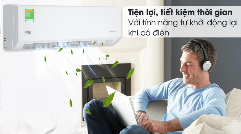 Máy lạnh Beko Inverter 1 HP RSVC09VT - Tự khởi động lại khi có điện