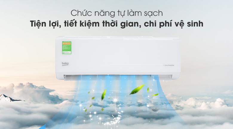 Máy lạnh Beko Inverter 1 HP RSVC09VT - Tự làm sạch Seft Clean
