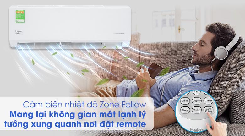 Máy lạnh Beko Inverter 1 HP RSVC09VT - Cảm biến Zone Follow