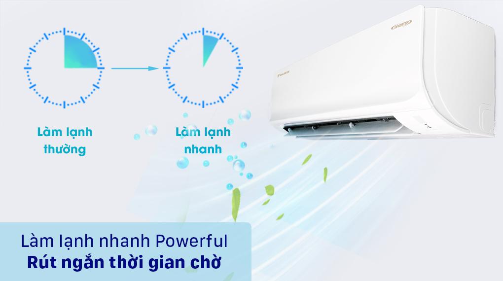 Máy lạnh Daikin FTKA25VMVMV - làm lạnh nhanh