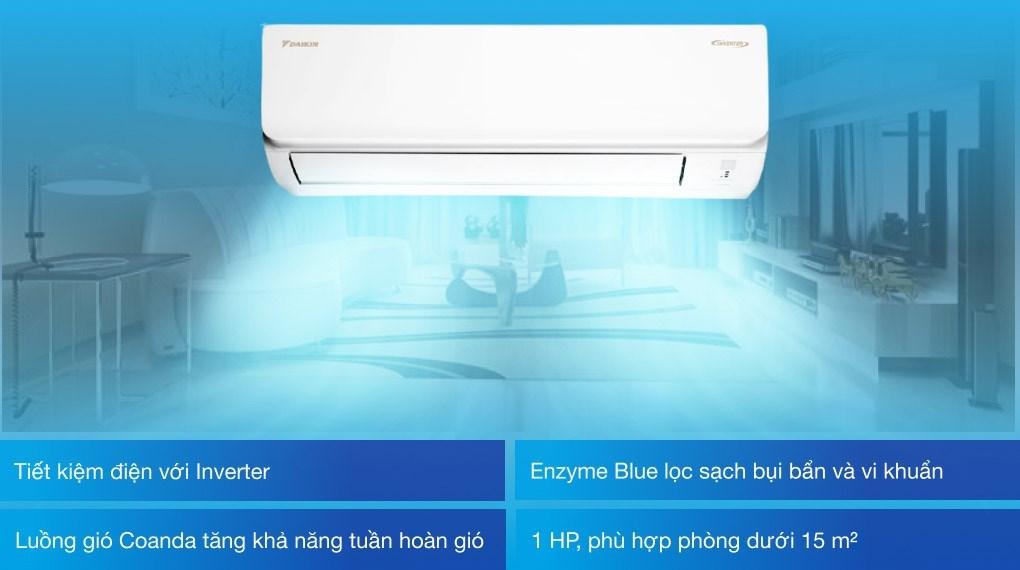 Máy lạnh Daikin Inverter 1 HP FTKA25VMVMV