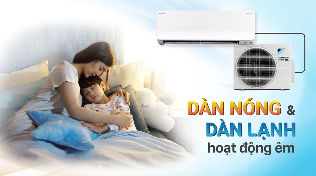 Máy lạnh Daikin Inverter 11500 BTU FTKA35VMVMV - Hoạt động êm ái