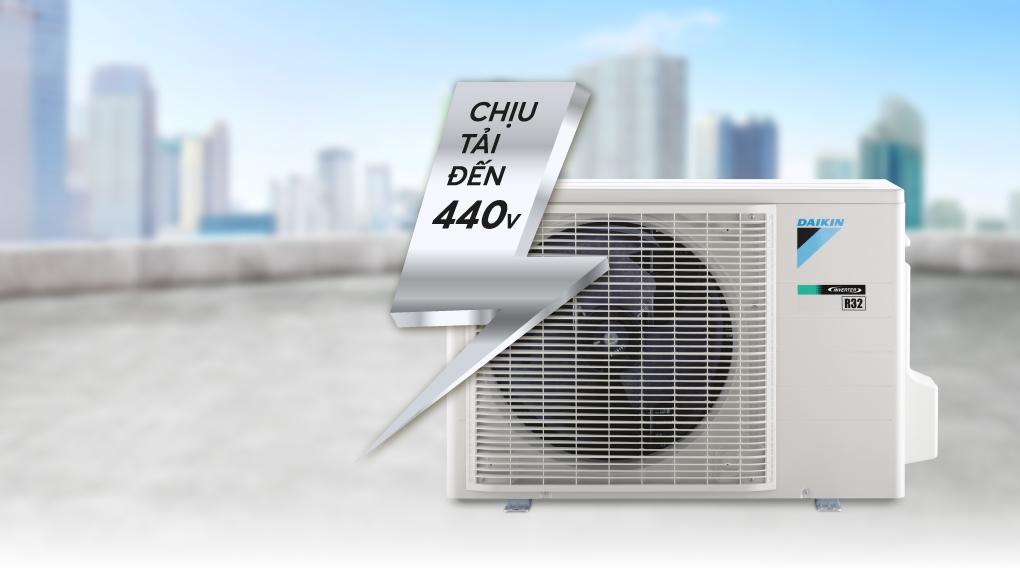 Máy lạnh 2 chiều Daikin Inverter 8500 BTU FTHF25VAVMV - Chịu tải đến 440 V