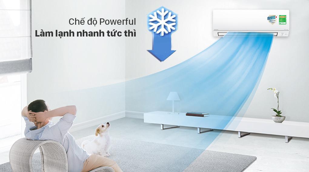 Máy lạnh 2 chiều Daikin Inverter 8500 BTU FTHF25VAVMV - Chế độ Powerful