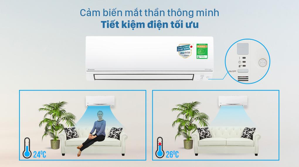 Máy lạnh 2 chiều Daikin Inverter 8500 BTU FTHF25VAVMV - Mắt thần thông minh tiết kiệm điện