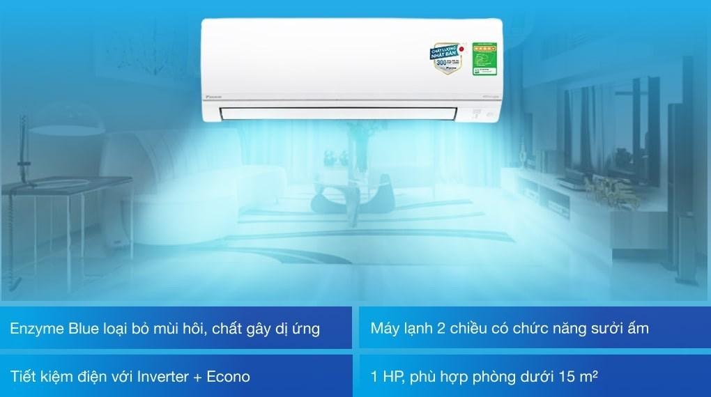 Máy lạnh 2 chiều Daikin Inverter 1 HP FTHF25VAVMV