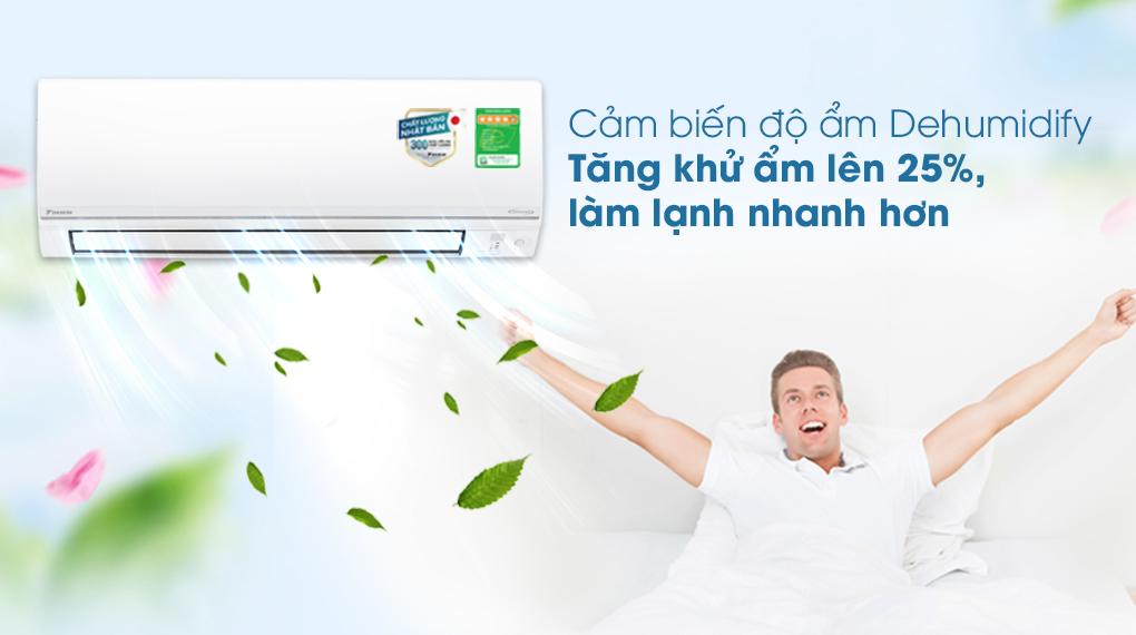 Máy lạnh 2 chiều Daikin Inverter 8500 BTU FTHF25VAVMV - Tăng khử ẩm 25%
