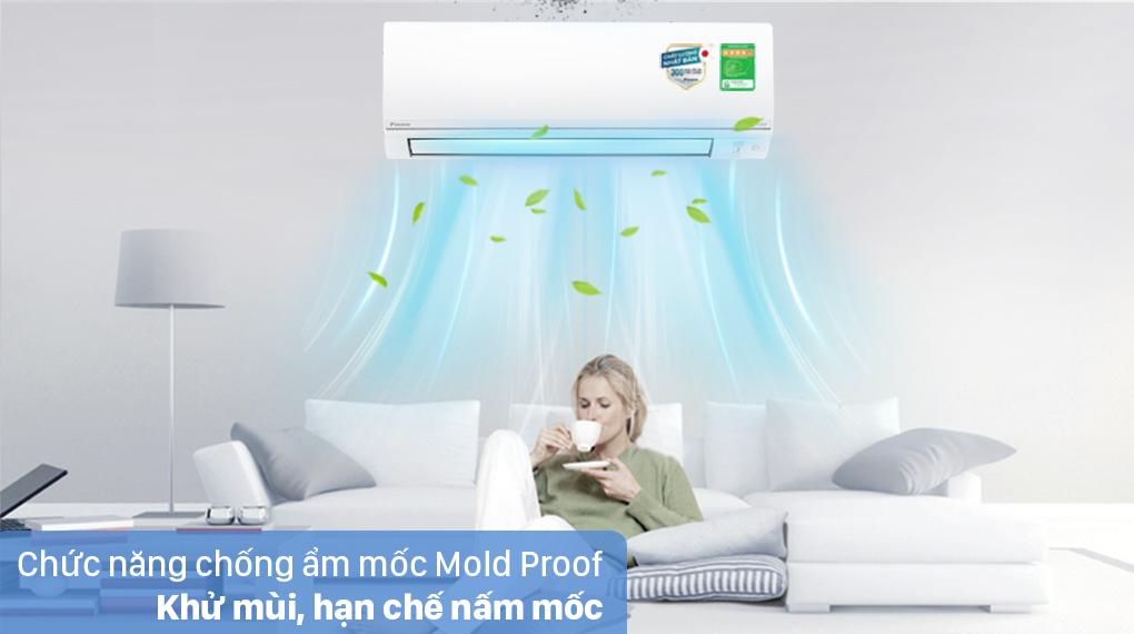 Máy lạnh 2 chiều Daikin Inverter 8500 BTU FTHF25VAVMV - Chống ẩm mốc