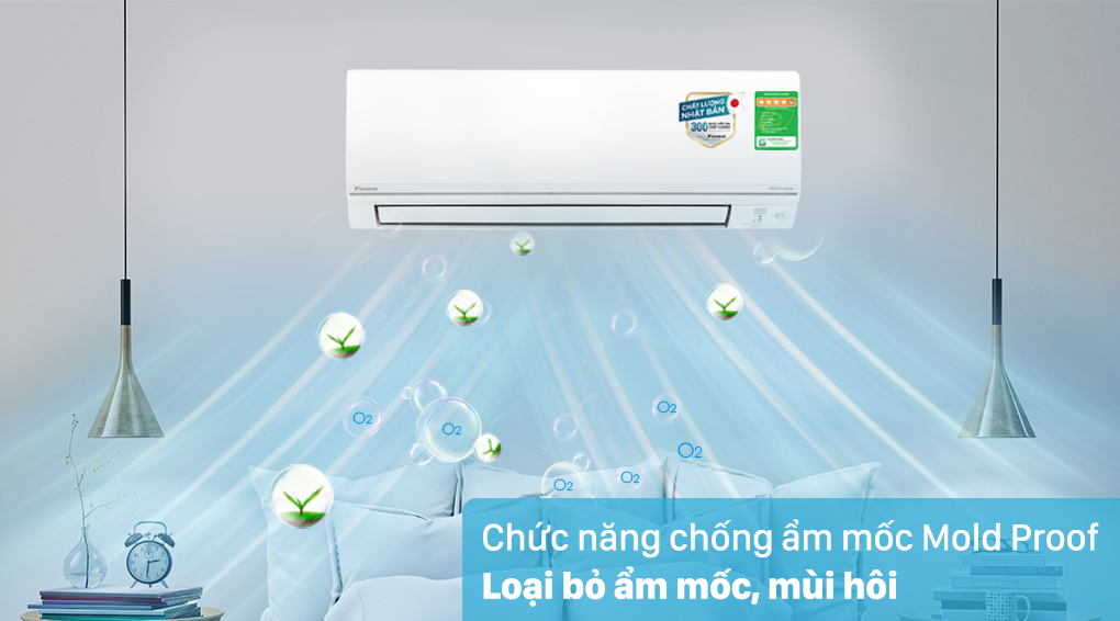 Máy lạnh 2 chiều Daikin Inverter 2 HP FTHF50VVMV - Chống ẩm mốc Mold Proof