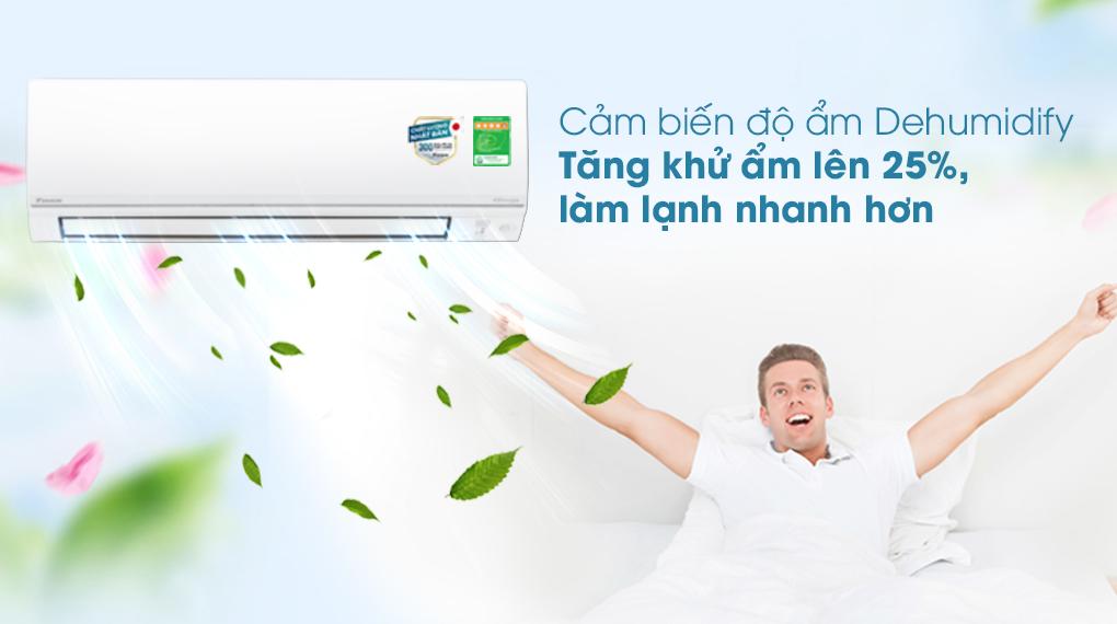 Máy lạnh 2 chiều Daikin Inverter 2 HP FTHF50VVMV - Cảm biến độ ẩm
