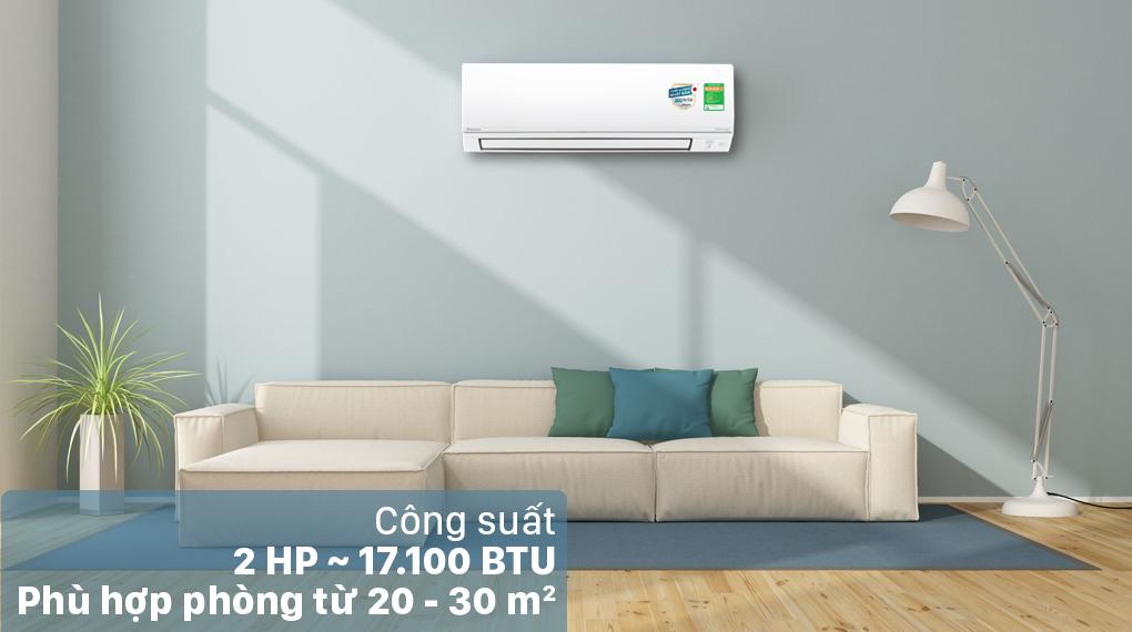 Máy lạnh 2 chiều Daikin Inverter 2 HP FTHF50VVMV - Công suất 2 HP
