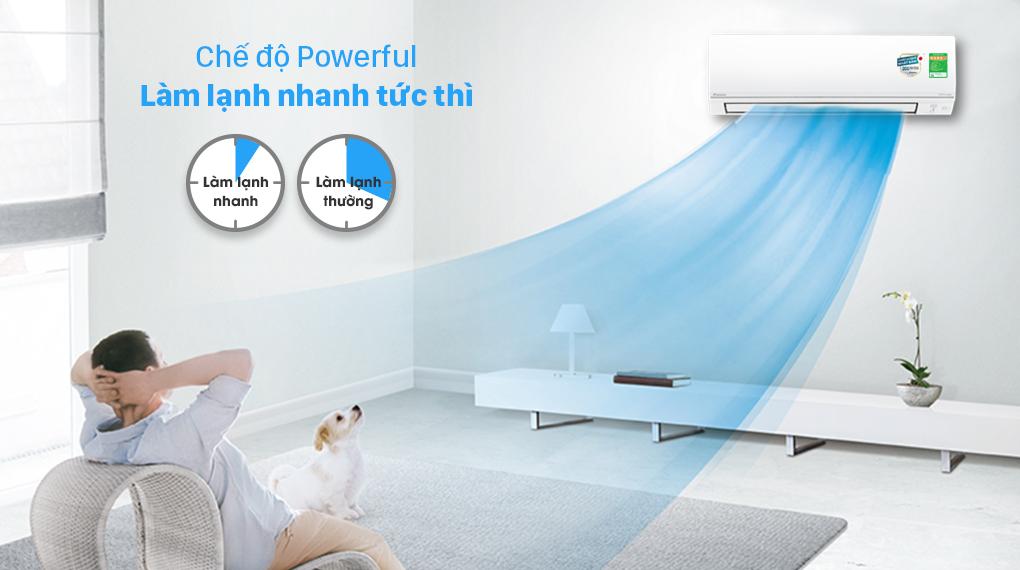 Máy lạnh 2 chiều Daikin Inverter 2 HP FTHF50VVMV - Làm lạnh nhanh Powerful