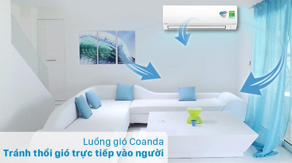 Máy lạnh 2 chiều Daikin Inverter 2 HP FTHF50VVMV - Luồng gió Coanda
