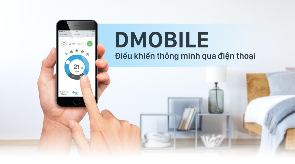 Máy lạnh Daikin Inverter 1 HP FTKZ25VVMV - Điều khiển từ xa bằng điện thoại thông minh với ứng dụng D-Mobile