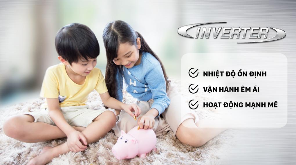 Máy lạnh Daikin Inverter 1 HP FTKZ25VVMV - Công nghệ Inverter tiết kiệm điện đến 66%, vận hành mạnh mẽ, êm ái