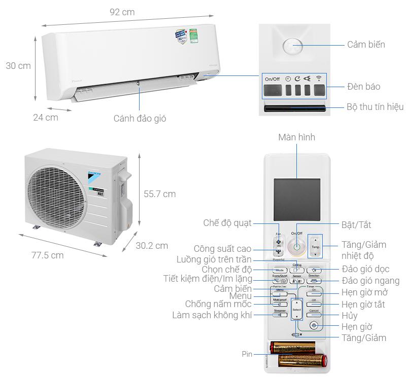 Điều hòa Daikin Inverter 8500 BTU FTKZ25VVMV