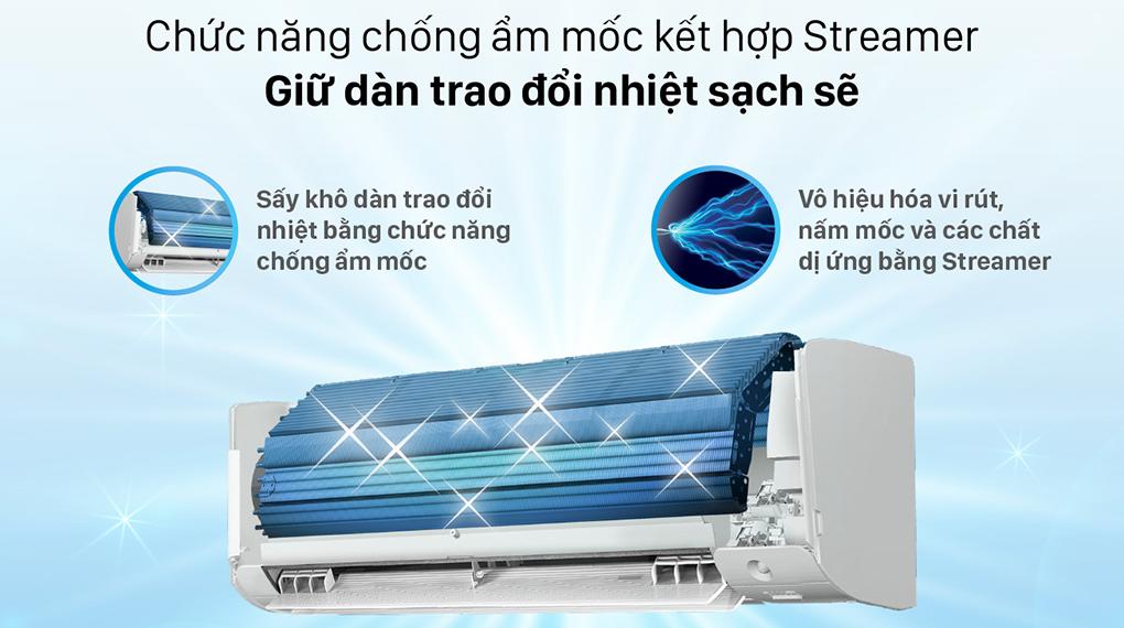 Máy lạnh Daikin Inverter 1 HP FTKZ25VVMV - Chống ẩm mốc kết hợp Streamer