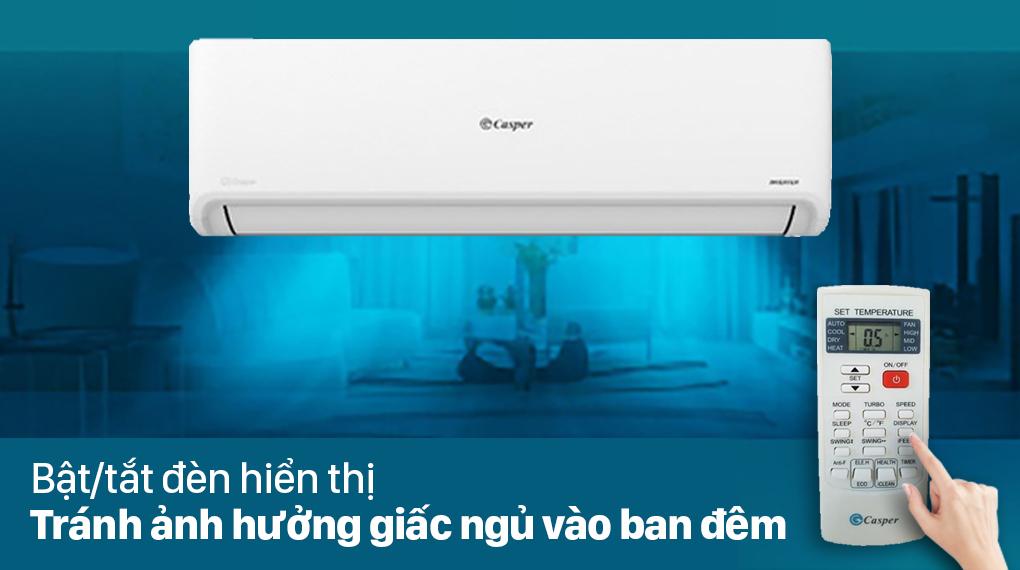 Máy lạnh Casper Inverter 2.5 HP GC-24IS32 - Tự động bật tắt đèn hiên thị