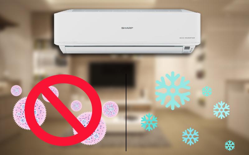 Máy lạnh trang bị bộ lọc thông minh khử trùng không khí