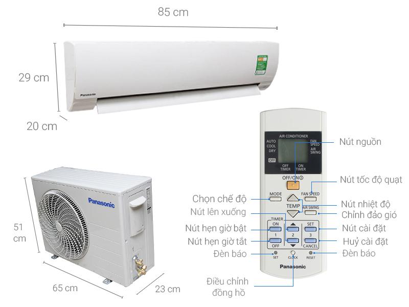 Thông số kỹ thuật Máy lạnh Panasonic 1 HP CU/CS-KC9QKH-8