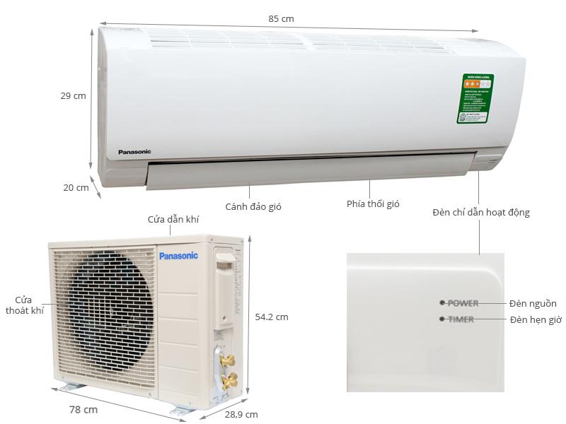 Thông số kỹ thuật Máy lạnh Panasonic 1.5 HP CU/CS-KC12QKH-8