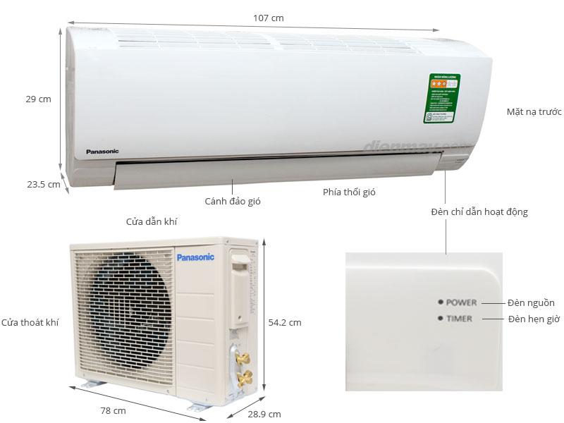 Thông số kỹ thuật Máy lạnh Panasonic 2 HP CU/CS-KC18QKH-8