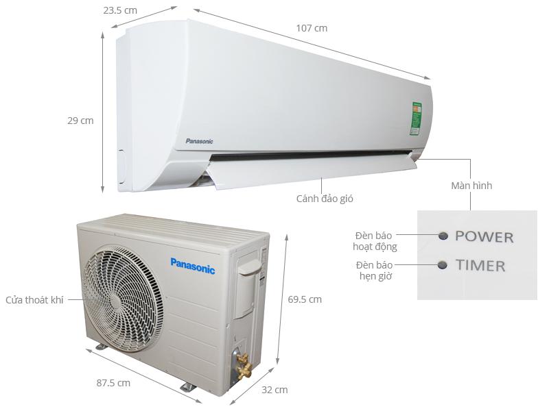 Thông số kỹ thuật Máy lạnh Panasonic 2.5 HP CU/CS-KC24QKH-8