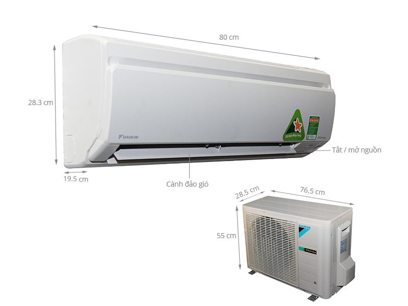 Thông số kỹ thuật Máy lạnh Daikin 1 HP FTKS25GVMV