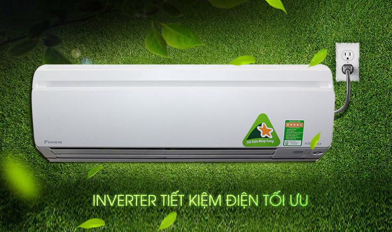 Máy lạnh Daikin FTKS25GVMV với công nghệ Inverter còn hỗ trợ gia đình bạn có thêm một khoản tiền nho nhỏ dành cho các chi tiêu khác