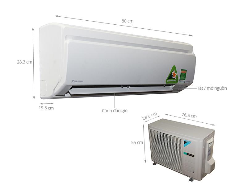 Thông số kỹ thuật Máy lạnh Daikin 1.5 HP FTKS35GVMV