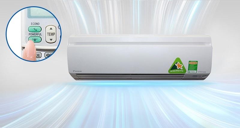 Máy lạnh Daikin FTKS35GVMV với sự sở hữu công nghệ làm lạnh nhanh chóng