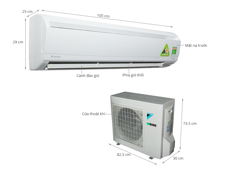 Thông số kỹ thuật Máy lạnh Daikin 2.5 HP FTKS60GVMV