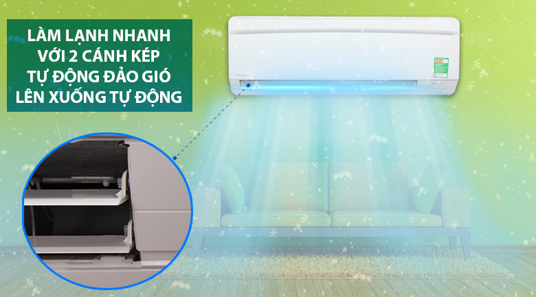 Làm lạnh nhanh - Máy lạnh Daikin 1.5 HP FTNE35MV1V9