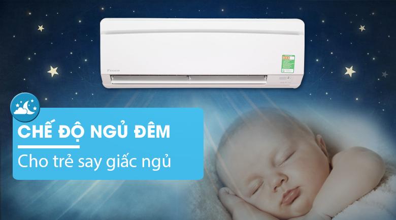 Chế độ ngủ đêm - Máy lạnh Daikin 1.5 HP FTNE35MV1V9