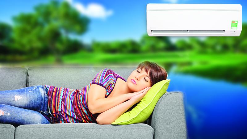 Chế độ ngủ ngon của điều hòa Daikin giúp cho bạn có thể chìm vào giấc ngủ sâu