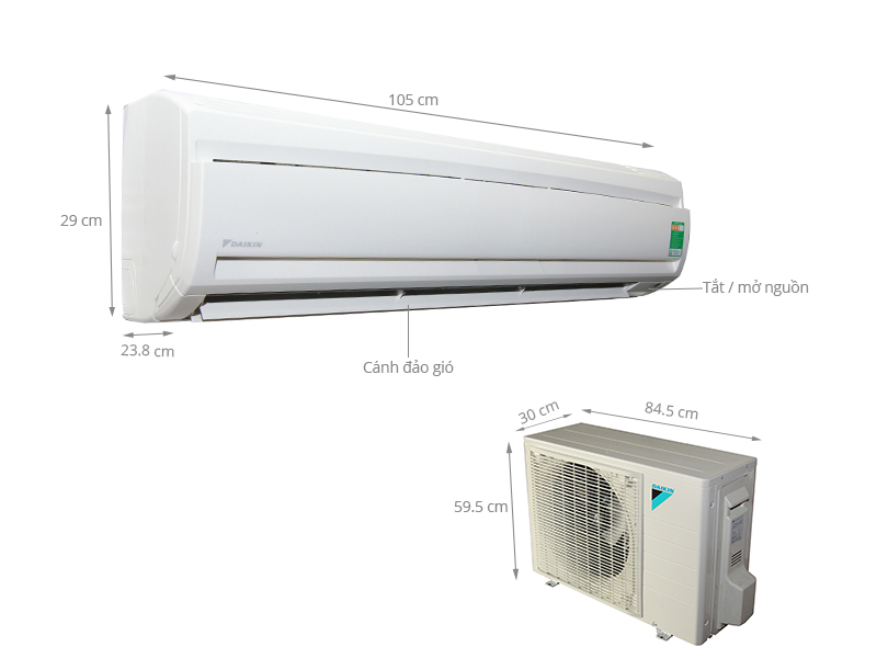 Thông số kỹ thuật Máy lạnh Daikin 2 HP FTNE50MV1V