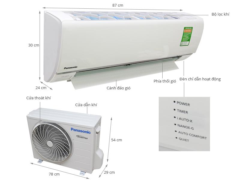 Thông số kỹ thuật Máy lạnh Panasonic 1 HP CU/CS-S9RKH-8