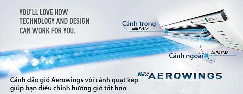 Với cánh quạt kẹp giúp điều chỉnh hướng gió tốt hơn