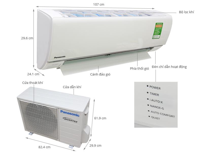 Thông số kỹ thuật Máy lạnh Panasonic Inverter 2 HP CU/CS-S18RKH-8