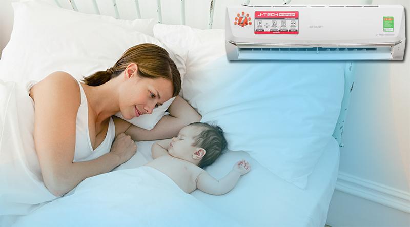 Chế độ Baby Sleep giúp trẻ ngủ ngon