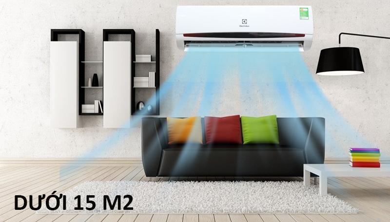 Máy lạnh tiêu chuẩn cho không gian nhỏ gọn dưới 15 m2