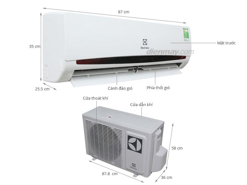 Thông số kỹ thuật Máy lạnh Electrolux 1.5 HP ESM12CRF-D4
