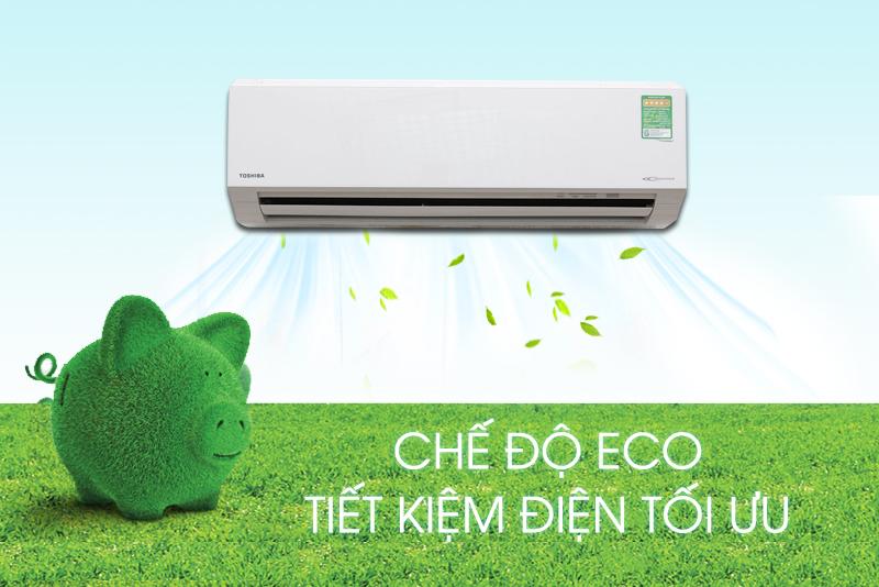 Chế độ Eco Mode Công nghệ HI Power trên trên máy lạnh Toshiba 1 HP RAS-H10G2KCV-V