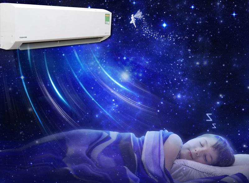Chế độ ngủ đêm trên máy lạnh Toshiba 1 HP RAS-H10G2KCV-V
