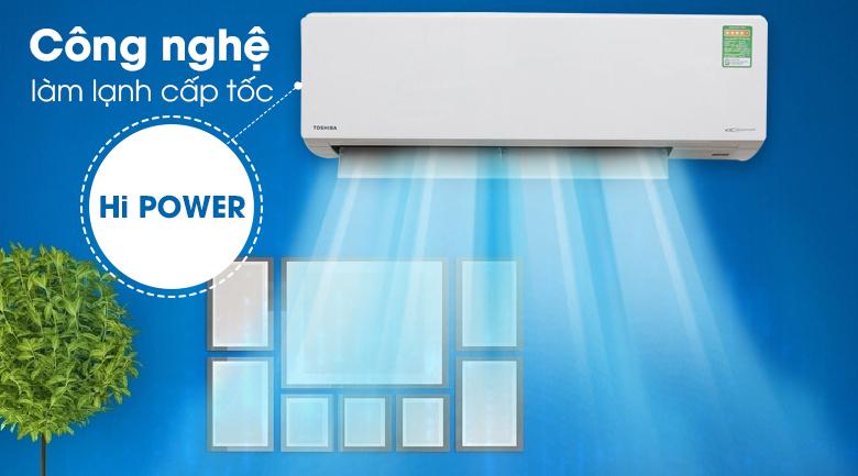 Hi Power - Máy lạnh Toshiba Inverter 1.5 HP RAS-H13G2KCV-V