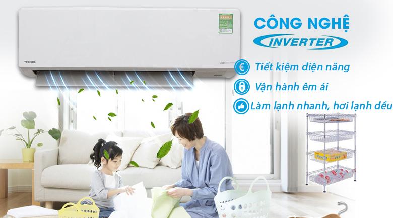 Inverter - Máy lạnh Toshiba Inverter 1.5 HP RAS-H13G2KCV-V