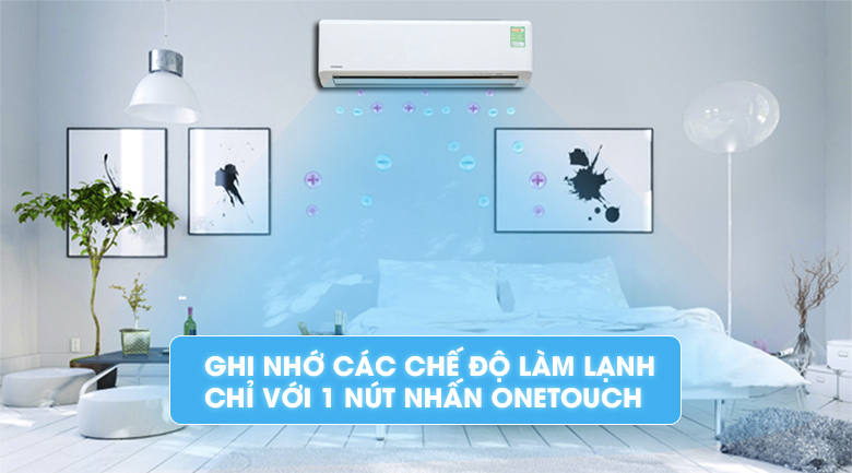 One-touch - Máy lạnh Toshiba Inverter 1.5 HP RAS-H13G2KCV-V