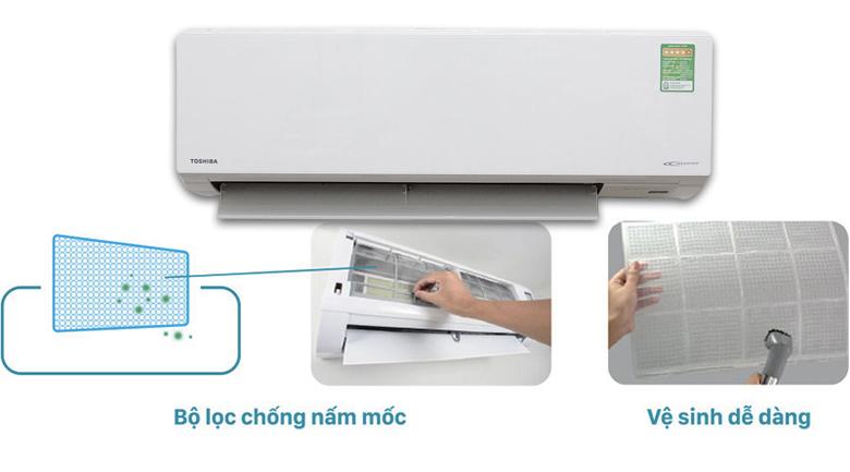 Bộ lọc chống nấm mốc - Máy lạnh Toshiba Inverter 1.5 HP RAS-H13G2KCV-V