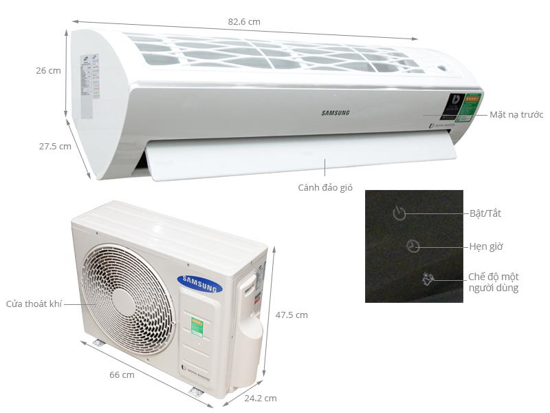 Thông số kỹ thuật Máy lạnh Samsung 1.5 HP AR12JVFSBWKNSV